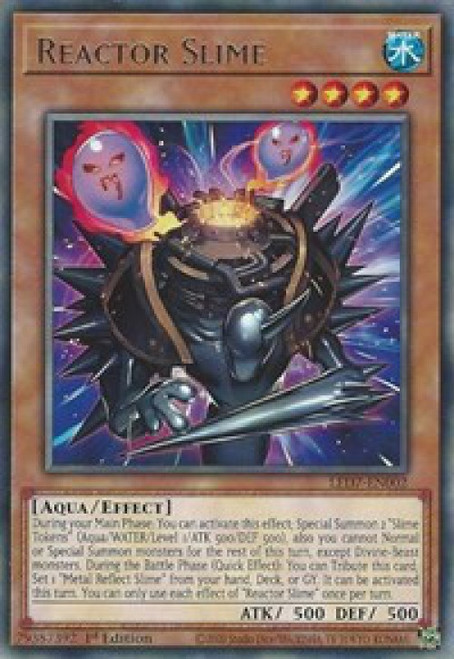 YuGiOh Legendary Duelists: Rage of Ra Rare Reactor Slime LED7-EN002