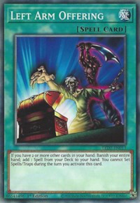 YuGiOh Legendary Duelists: Rage of Ra Common Left Arm Offering LED7-EN013