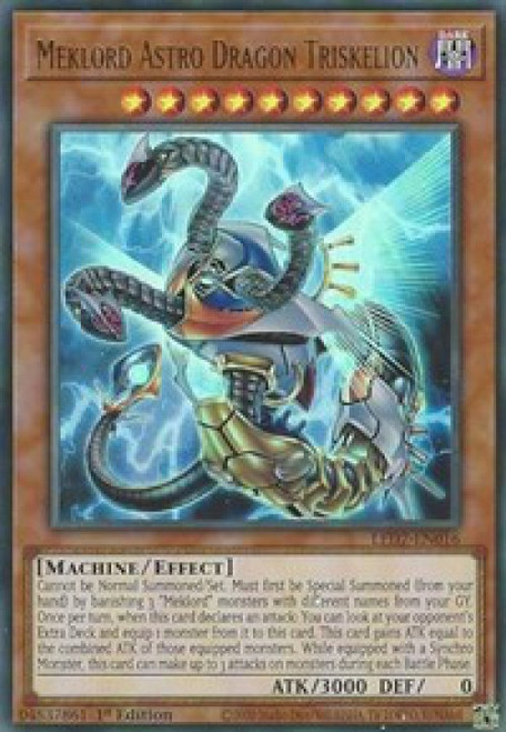 YuGiOh Legendary Duelists: Rage of Ra Ultra Rare Meklord Astro Dragon Triskelion LED7-EN016