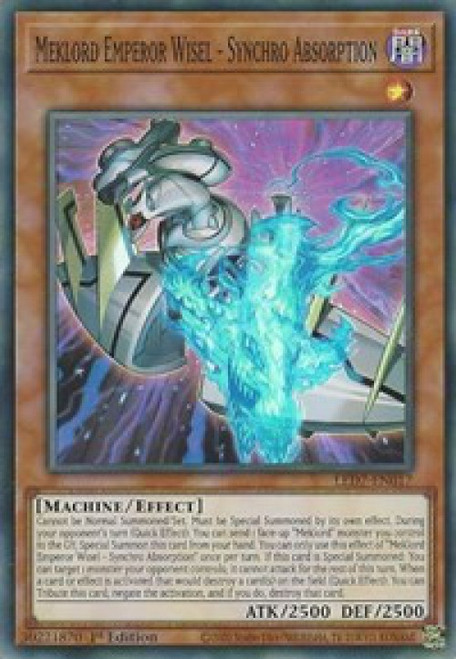YuGiOh Legendary Duelists: Rage of Ra Super Rare Meklord Emperor Wisel - Synchro Absorption LED7-EN017