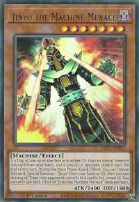 YuGiOh Legendary Duelists: Rage of Ra Ultra Rare Jinzo the Machine Menace LED7-EN031
