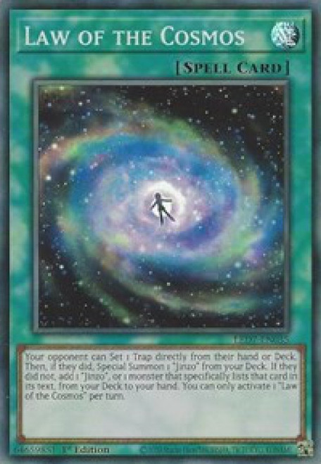 YuGiOh Legendary Duelists: Rage of Ra Super Rare Law of the Cosmos LED7-EN035