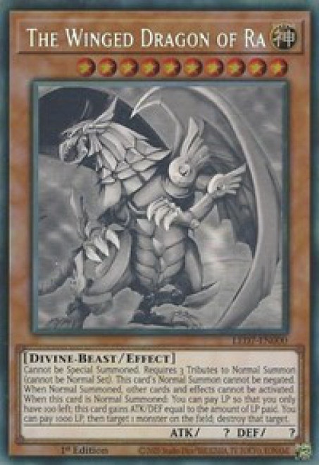 YuGiOh Legendary Duelists: Rage of Ra Ghost Rare The Winged Dragon of Ra LED7-EN000