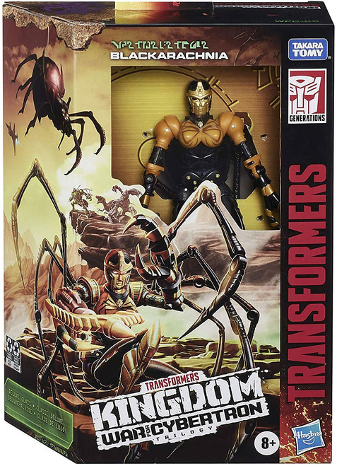 Transformers Generations Kingdom: War for Cybertron Trilogy Blackarachnia Deluxe Action Figure WFC-K5
