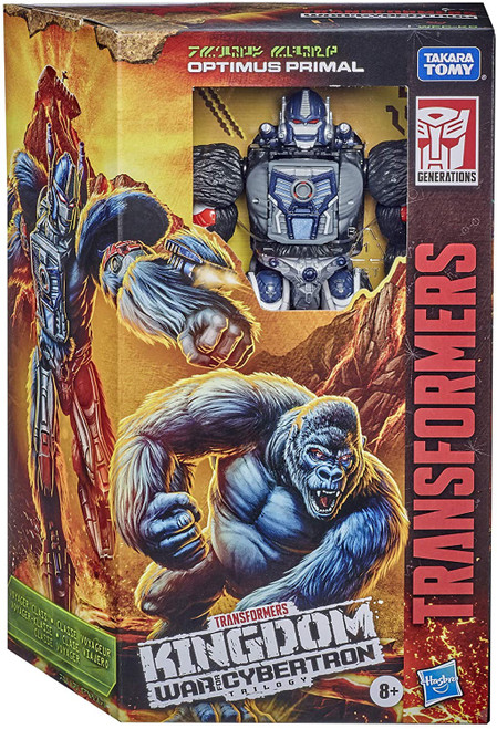 Transformers Generations Kingdom: War for Cybertron Trilogy Optimus Primal Voyager Action Figure WFC-K8