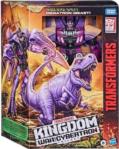 Transformers Generations Kingdom: War for Cybertron Trilogy Megatron Leader Action Figure [T-Rex]