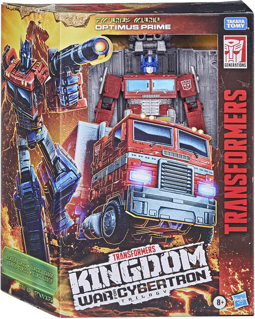 Transformers Generations Kingdom: War for Cybertron Trilogy Optimus Prime Leader Action Figure