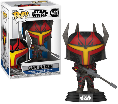 Funko The Clone Wars POP! Star Wars Gar Saxon Vinyl Bobble Head #411