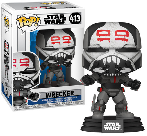 Funko The Clone Wars POP! Star Wars Wrecker Vinyl Bobble Head #413