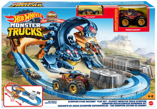 Hot Wheels Monster Trucks Scorpion Sting Raceway Playset