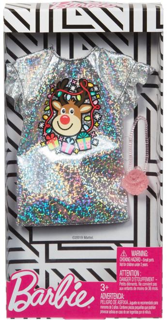 Barbie Silver Reindeer Dress Fashion Pack
