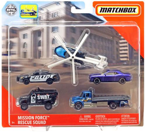 Matchbox Mission Force Rescue Squad Diecast Vehicle 5-Pack