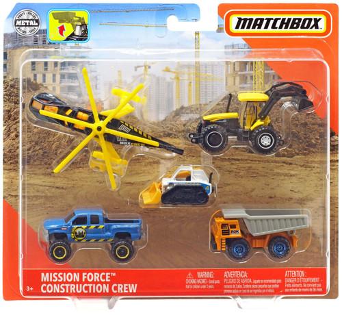 Matchbox Mission Force Construction Crew Diecast Vehicle 5-Pack