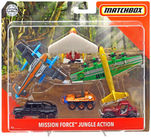 Matchbox Mission Force Jungle Action Diecast Vehicle 5-Pack