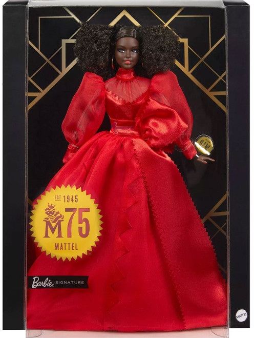 Signature 75th Anniversary Barbie Doll [Brunette]
