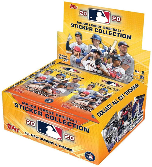 MLB Topps 2020 Baseball Sticker Collection RETAIL Box [50 Packs]