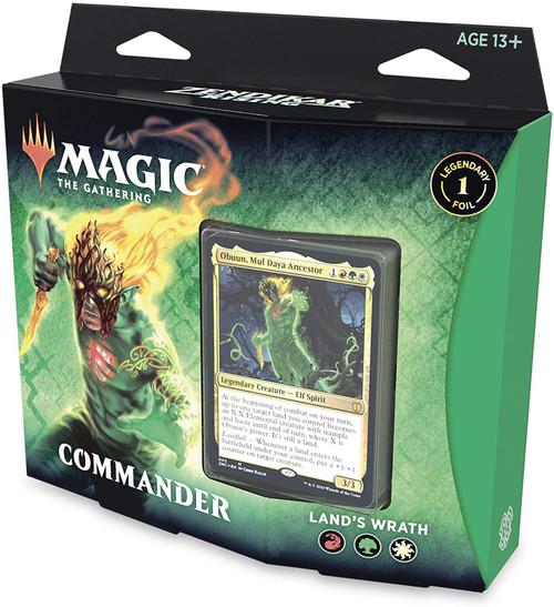 MtG Trading Card Game Zendikar Rising Commander Land's Wrath Deck