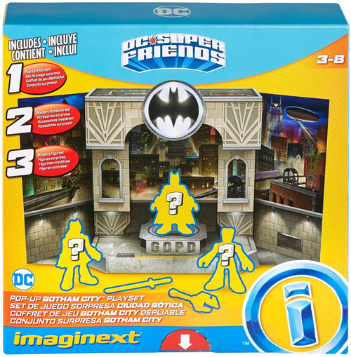 Fisher Price DC Super Friends Imaginext Pop-Up Gotham City Playset [Includes 3 Mystery Figures & 2 Mystery Accessories!]