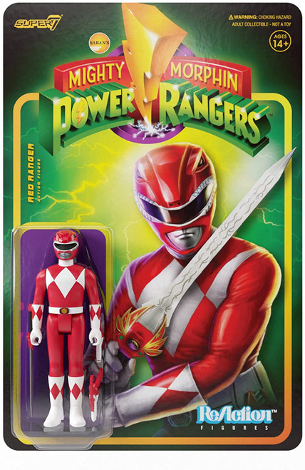 ReAction Mighty Morphin Power Rangers Red Ranger Action Figure
