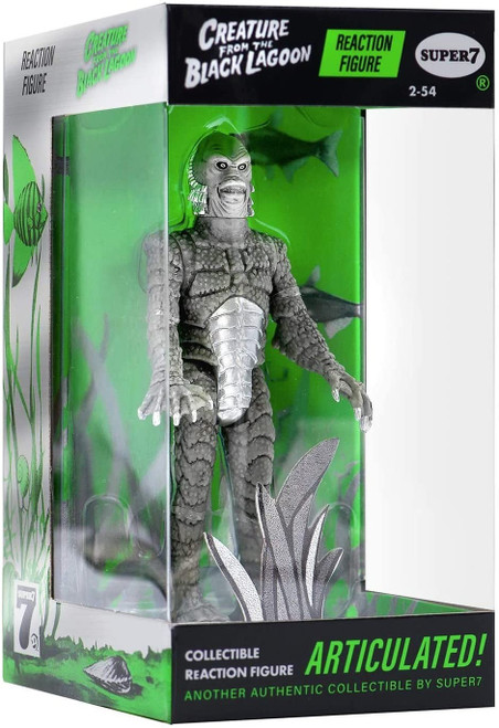 ReAction Universal Monsters Creature from The Black Lagoon Action Figure [In Box, Silver Screen Variant]