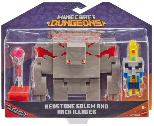 Minecraft Dungeons Redstone Golem & Arch Illager Action Figure