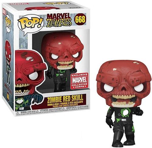Funko Marvel Zombies POP! Marvel Zombie Red Skull Exclusive Vinyl Figure #668