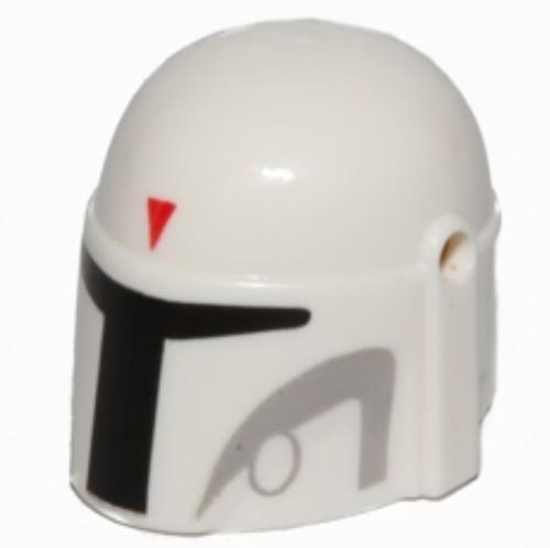 LEGO Star Wars White Mandalorian Helmet [Boba Fett Loose]