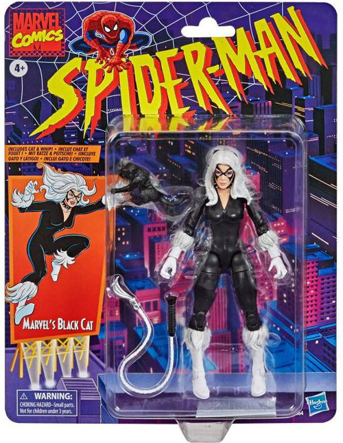 Spider-Man Marvel Legends Vintage (Retro) Series Black Cat Action Figure (Pre-Order ships January)