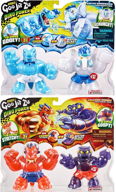 Heroes of Goo Jit Zu Dino Power Blazagon vs Redback & Tyro vs Gigatusk Set of 2 Action Figure 2-Packs