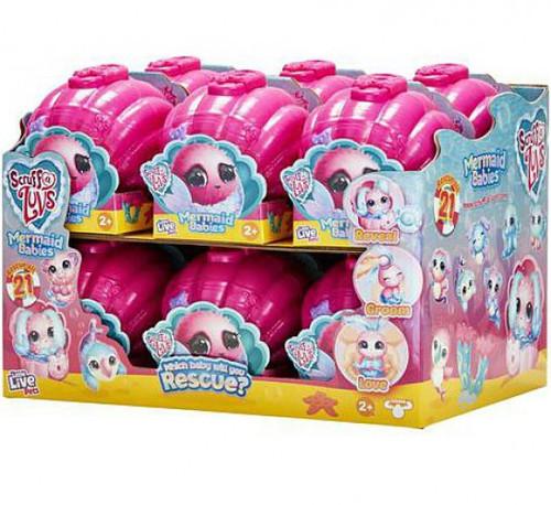 Little Live Pets Scruff A Luvs Mermaid Babies Series 4 Mini Plush Surprise Mystery Box [12 Packs]