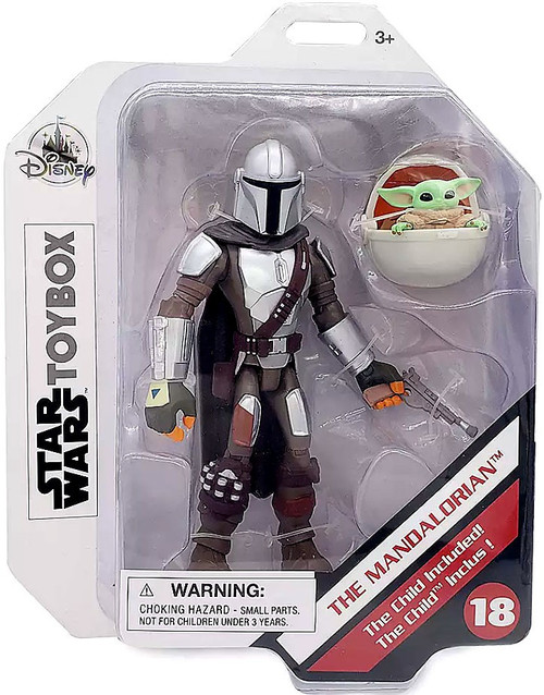 Disney Star Wars Toybox The Mandalorian with The Child (Baby Yoda / Grogu) Action Figure 2-Pack #18