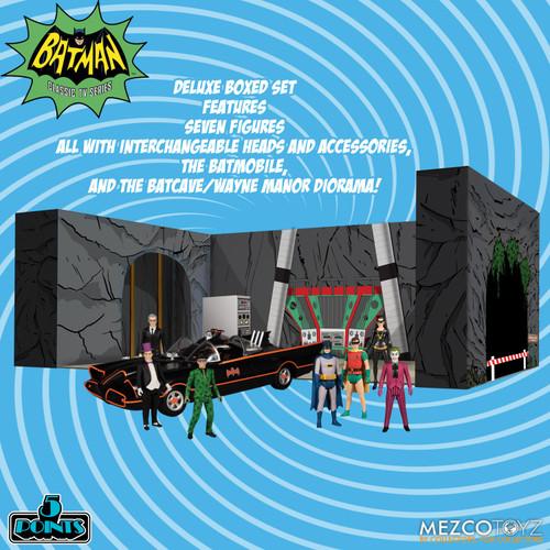 DC 5 Points 1966 Batman, Robin, Alfred, Catwoman, Joker, Penguin, Riddler, Batmobile & Batcave Deluxe Action Figure Boxed Set (Pre-Order ships January)