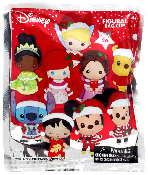 3D Figural Foam Bag Clip Series 1 Disney Christmas Mystery Pack [1 Random Figure] (Pre-Order ships November)