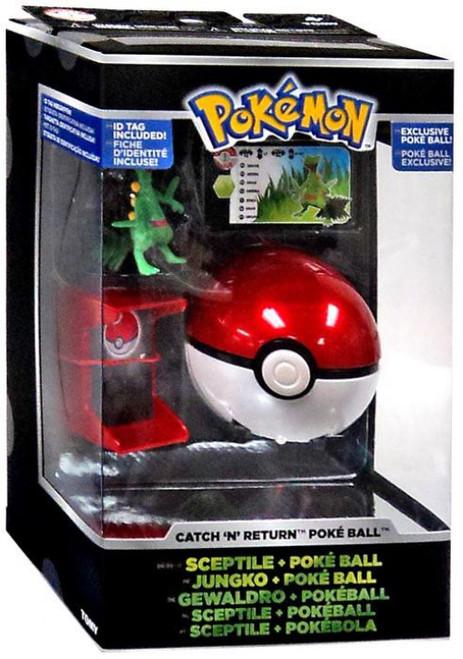 Pokemon Catch n Return Pokeball Sceptile & Poke Ball Trainer's Choice Figure [Damaged Package]