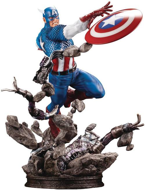 Marvel Avengers Fine Art Captain America 7-Inch Limited Edition Statue (Pre-Order ships September)