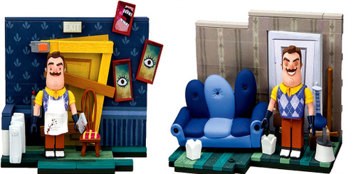 McFarlane Toys Hello Neighbor Living Room & Basement Door Set of 2 Construction Sets
