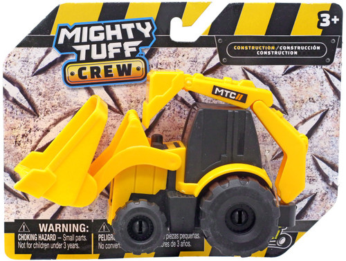 Mighty Tuff Crew Construction Backhoe Loader Plastic Vehicle
