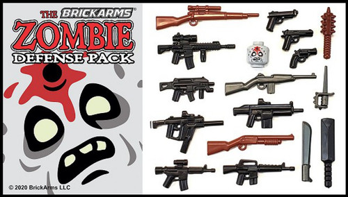 BrickArms Zombie Defense Pack 2020 Weapons Pack
