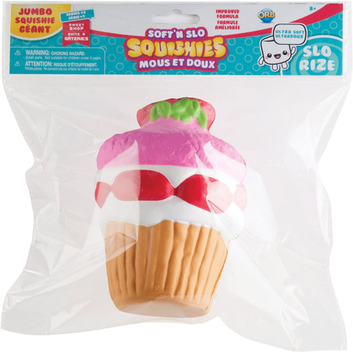Soft'N Slow Squishies Series 1 Sweet Shop Strawberry CUpcake 6-Inch Squeeze Toy