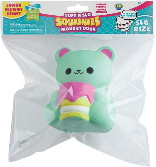 Soft'N Slow Squishies Series 2 Animal Pals Bear Cake 6-Inch Jumbo Squeeze Toy