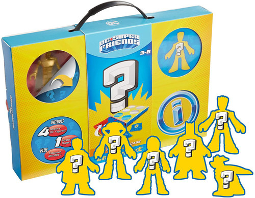 Fisher Price DC Super Friends Imaginext Mystery Playcase Exclusive Playset [Includes 6 Mystery Figures!]