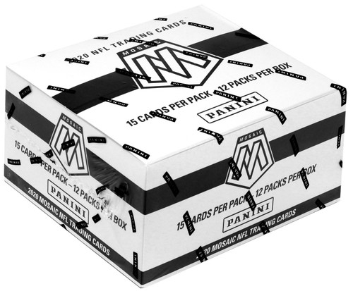 NFL Panini 2020 Mosaic Football Trading Card VALUE Box [12 Packs]