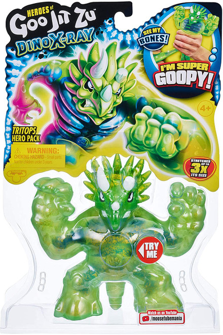 Heroes of Goo Jit Zu Dino X-Ray (Series 4) Tritops the Triceratops Action Figure