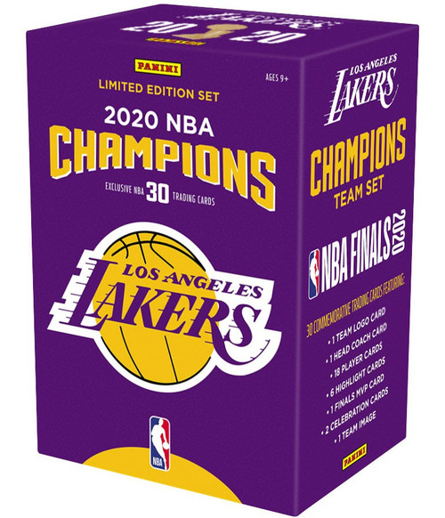 NBA Panini 2020 Champions Basketball Los Angeles Lakers Trading Card BLASTER Team Set [30 Cards, Limited Edition] (Pre-Order ships November)
