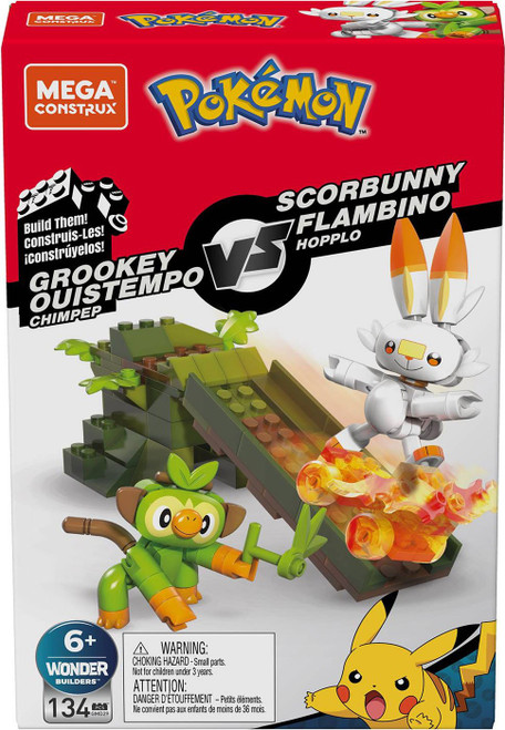 Pokemon Grookey vs Scorbunny Set
