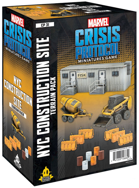 Marvel Crisis Protocol NYC Construction Site Terrain Pack