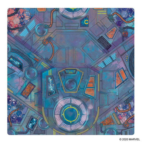 Marvel Crisis Protocol Spaceport Showdown Game Mat