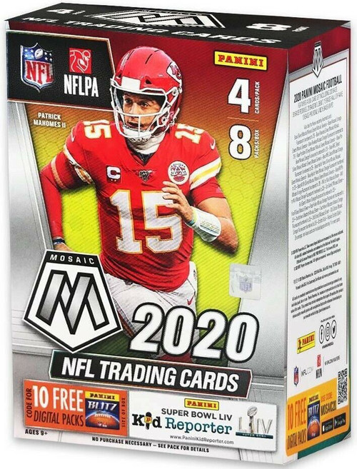 NFL Panini 2020 Mosaic Football Trading Card BLASTER Box [8 Packs]