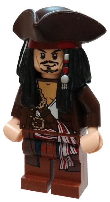 LEGO Pirates of the Caribbean Captain Jack Sparrow Minifigure [with Tricorne Loose]
