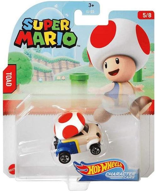 Hot Wheels Super Mario Character Cars Toad Diecast Car #5/8 [2020]